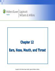 PPT_Chapter_12 Ears, Nose, Mouth and Throat.ppt