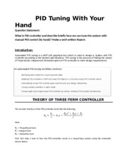 PID Tuning With Your Hand