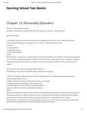 06.Chapter 13_ Personality Disorders _ Nursing School Test Banks.pdf