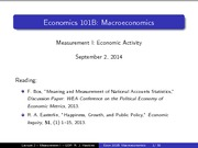 Lecture 02 - Measurement I - GDP