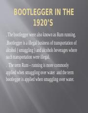 Bootlegger in the 1920's