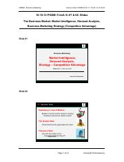 16-10-12 PGDM-Trim5-S-07 & 08 (Intelligence, Demand Analysis, Strategy - CA ) - Handout