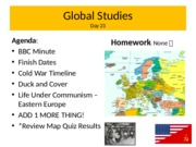 Global Studies europe day 23