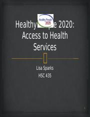 HP2020- Access to Health Services