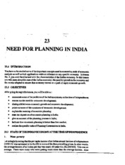 L-23 NEED FOR PLANNING IN INDIA
