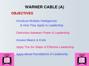 Warner Cable Lecture Slides