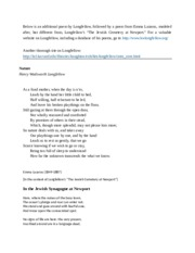 Additonal poems and link to Longfellow.docx