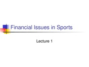 L01 Financial Issues in Sports