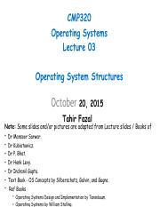 Lecture 03 (OS Structures)