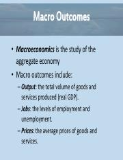 Essential of Economics Chapter 11 - A Macro View Powerpoint