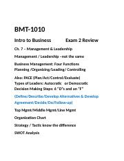 PGCC-BMT-1010-Exam 2 Review.docx