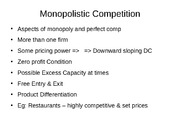 Week 9 - Monopolistic Competition