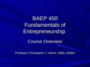 Introduction to BAEP 450