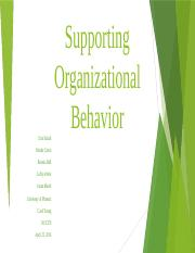 HCS370 wk 4 team assignment Supporting Organizational Behavior.pptx