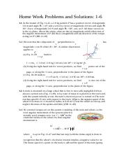 Home Work Problems and Solutions1-6_990227