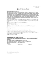 philosophy quiz 2 review