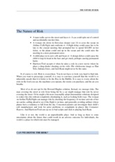 CHAPTER 1- The Nature of Risk