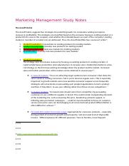 Marketing Management Study Notes - THE ANSOFF.docx