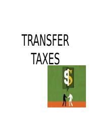 TRANSFER TAXES.ppt