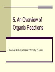 Chapter 1 - Organic Reactions