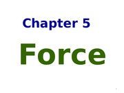 Chapter 5 (Force)