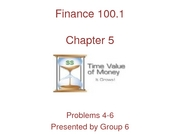Finance Ch. 5 - Time Value of Money