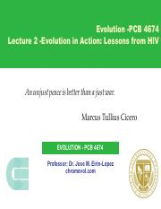 Lecture 2 -Evolution in Action -Lessons from HIV