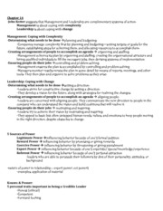 management 3343chapter 14 notes