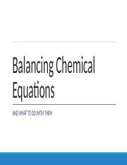 Lecture 13 Balancing Chemical Equations and Stoich W16 (1)