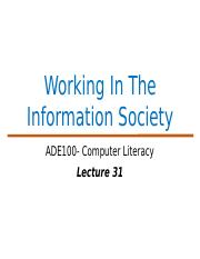 ADE Lecture 31