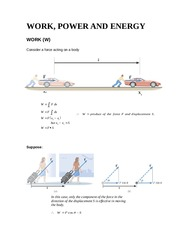 Work, Energy and Power (lecture)