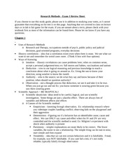 Study Guide for Exam 1 (Spring 2014)