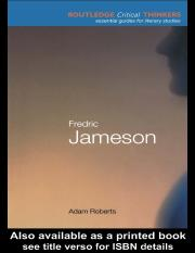 Fredric Jameson (Routledge Critical Thinkers) - Adam Roberts.pdf