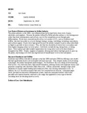 Sample Delta Case Memo