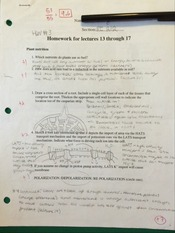 BI 212 Homework for Lectures 13-17