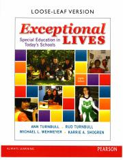 Exceptional Lives 8th Edition Chapter 1 - Part 1