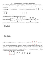 Study Guide on Determinants