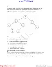 Data Structures - CS301 Fall 2009 Assignment 03 Solution.pdf