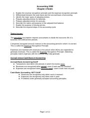 Accounting chapter 4 notes