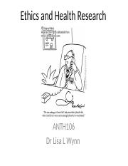 Ethics and Health  Drug Research
