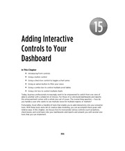 Ch 15 - Adding Interactive Controls to Your Dashboard