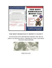 Greg Palast - The Best Democracy Money Can Buy - Revised US Edition
