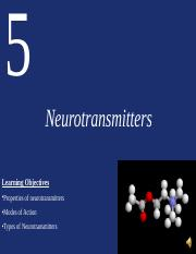 Lecture Five_Neurotransmitters.ppt