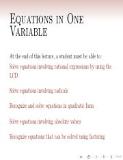 M08 Rational Equations and others