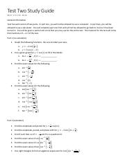 Test Two Study Guide