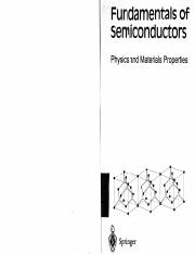 Peter Y. Yu, Manuel Cardona-Fundamentals of Semiconductors Physics and Materials Properties-Springer