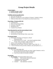 Group Project Details (FA14)