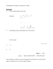 Thermodynamics and Kinetics- Study Guide- Entropy