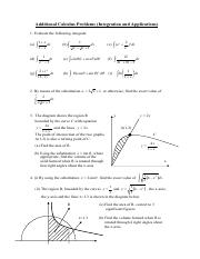 Additional Calculus Problems -Integration and Applications.pdf