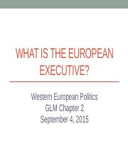 05 - What is the European Executive